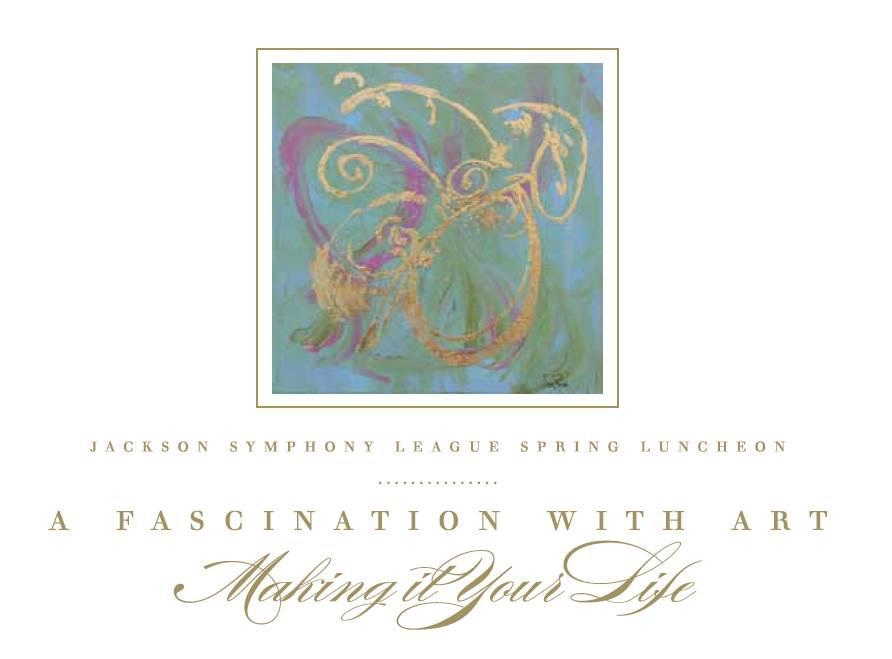 Jackson Symphony League Spring Luncheon invitation cover.