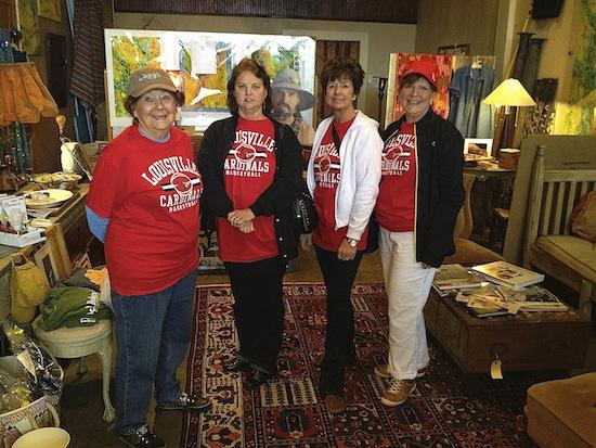 Marilyln Kirtley, Pat Pendley, Regina Adler, Marilyn Bedell from Muhlenberg County, Greenville, KY.