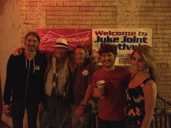 Joey Young, Todd Cameron, Ken Flynt, Adam Britt, Bethany Howell at New Roxy in Clarksdale during Juke Joint Festival 2013.