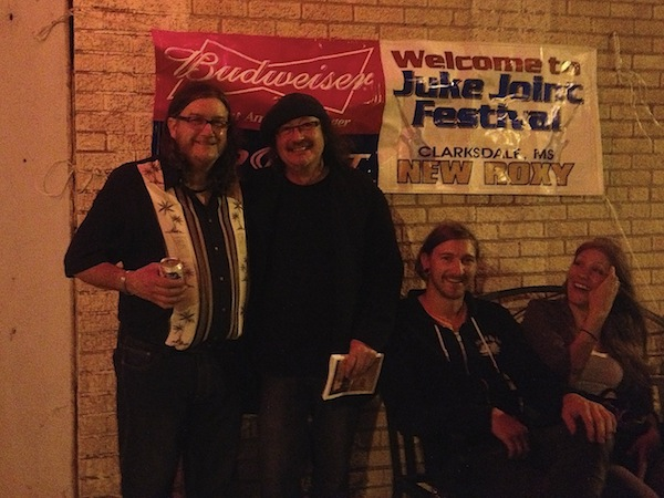 Poor William Billy Howell, Adrian Kosky, Joey Young, Meghan Maike at New Roxy in Clarksdale during Juke Joint Festival 2013.