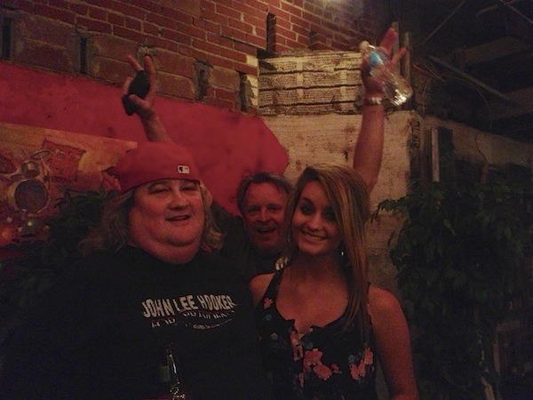 UNC Robert McDonald, Ken Flynt with Legends Magazine, Bethany Howell at New Roxy in Clarksdale at Juke Joint Festival 2013.
