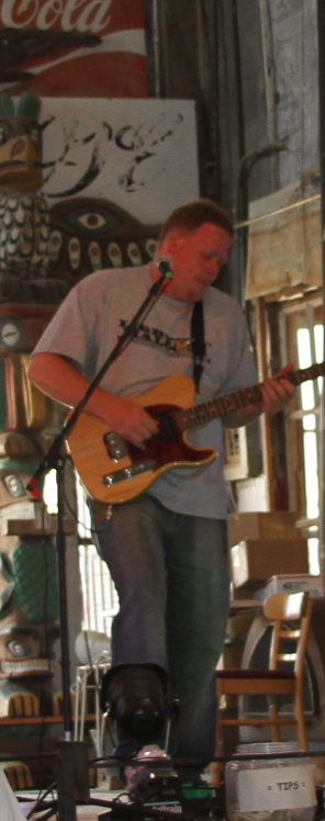 Lightnin' Malcolm in Juke Joint Chapel at the Shack Up Inn. Photo by DB.