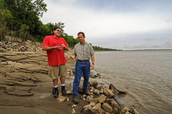 Poor William and Mr. Lil John by the Mississippi River. Photo by Eric Stone