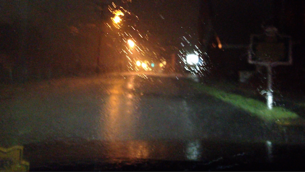 Rainy Wednesday Night in Clarksdale during Juke Joint Festival 2013.