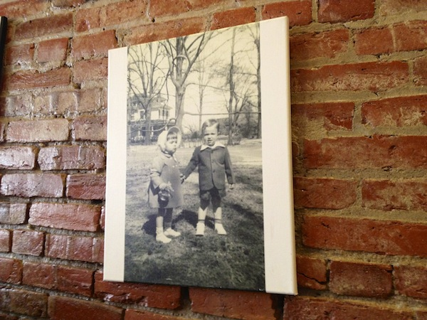 Vintage Clarksdale photo on the wall of Stone Pony Pizza in Clarksdale.