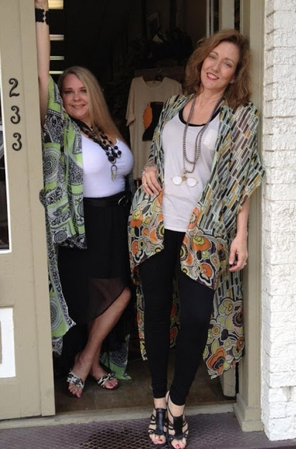 Collaborators at the DB Gift Shop Designer Marilyn Trainor Storey and Magical Madge Marley Howell.