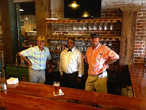 Sumner Grill opens for breakfast, lunch and dinner. Owners Michael Wagner, Graham Flautt with Bartender Larry Heard.