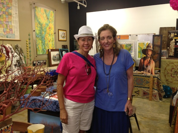 Priscilla Sieleman and Magical Madge in the DB Gift Shop in Clarksdale.
