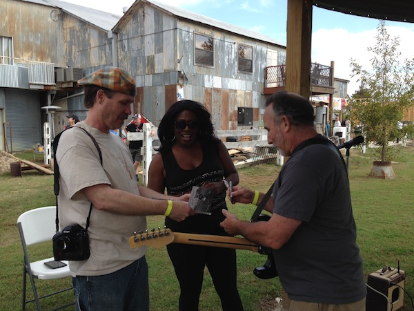 "Frank McClory signing his new CD ""Walking in the Shadows of Greatness"" at the Shack Up Inn"