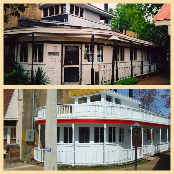 Before and After Dreamboat - still in progress in Clarksdale