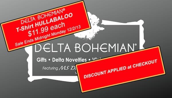 Cyber Weekend Delta Bohemian T Shirt Hullabaloo!