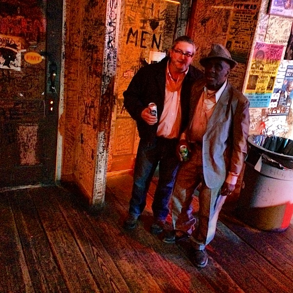 "Billy ""Poor William"" Howell and Leo ""Bud"" Welch at GZBC in Clarksdale"