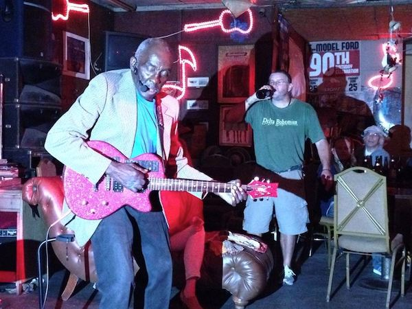 "Leo ""Bud"" Welch and Billy Howell at Red's Blues Lounge in Clarksdale"