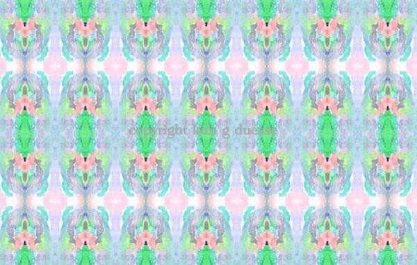 """""""Cotton Blossom"""" original art fabric by Kim Duease"""