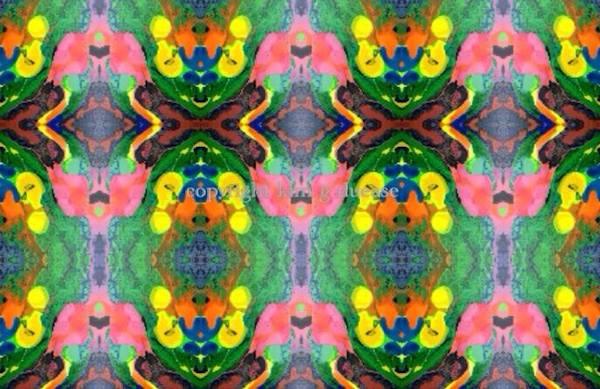 """Crossroad "" - original art fabric by Kim Duease"