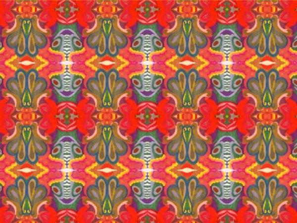 """Flora"" - original art fabric by Kim Duease"