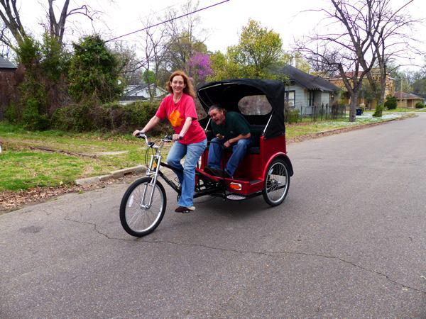 Poor William being Poor William on the DB Excursions pedicab