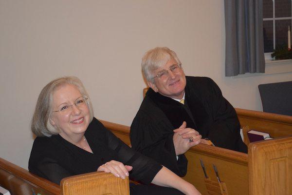 Pastor of First Presbyterian Bill Gleason with wife Edna