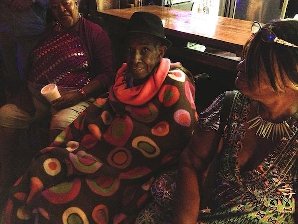 "Yolanda ""Big Mama"" Hurt with James Lewis T-Model Ford at Shack Up Inn April 2013"
