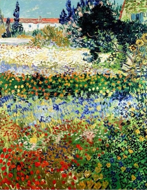 Van Gogh's Garden in Bloom. Arles, c 1888