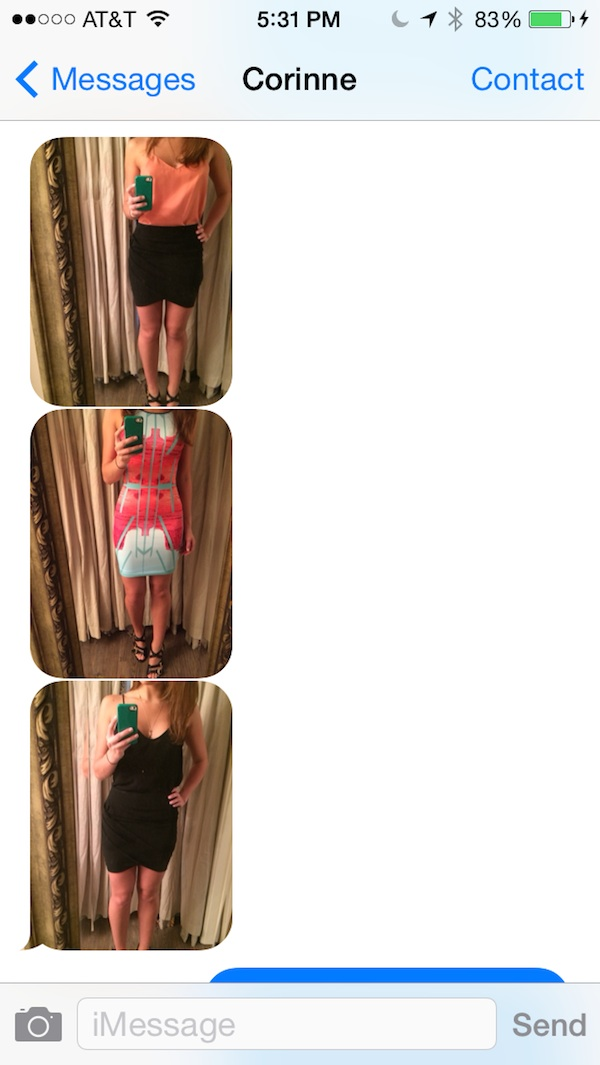 Outfits I considered wearing to the audition for Rickie Fowler Play 9 American Express® USGA television commercial. I wore the colorful dress!