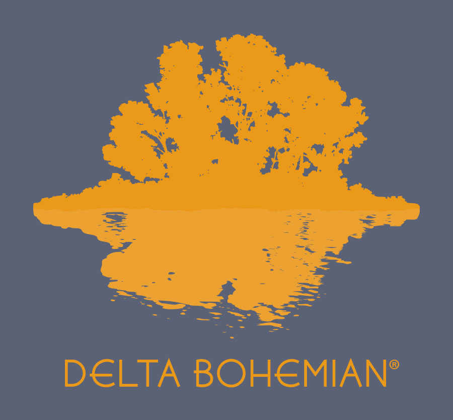Delta Bohemian logo designed by Khara Woods from Memphis
