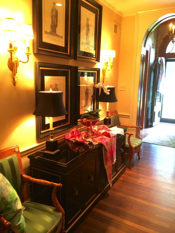 The foyer in premium antique dealer Mary Helen McCoy's home gallery in Memphis.