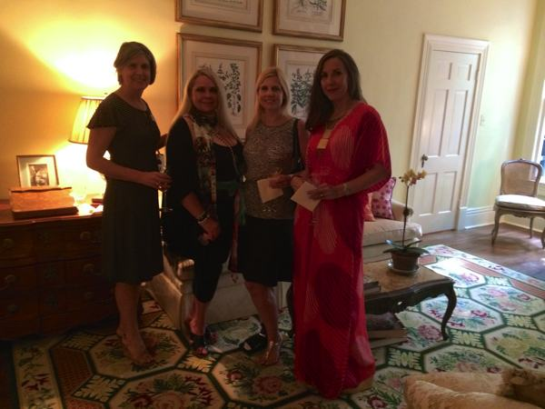 L to R - Desoto Magazine Editor Karen Ott Mayer, Marilyn Trainor Storey, Associate Publisher Paula Mitchell at Mary Helen McCoy's home gallery