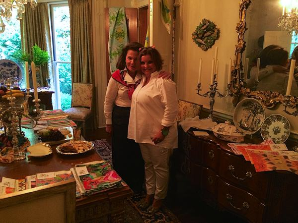 Premium antique dealer Mary Helen McCoy with Fabric Designer Kim Duease in Memphis