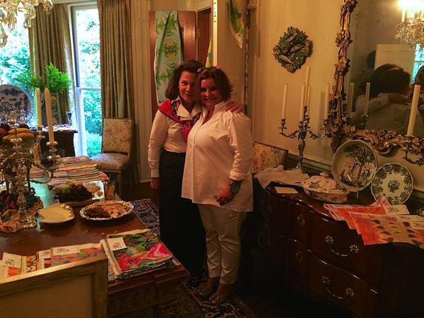 Premium antique dealer Mary Helen McCoy with Fabric Designer Kim Duease in Memphis