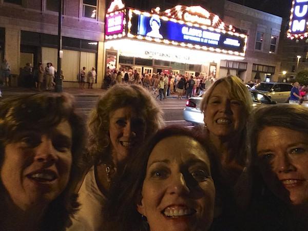 Lifelong friends Elisa Norfleet Crockett, Lisa Patton, Madge Marley Howell, Katy Collier Creech, Cary Coors Brown, at the Orpheum in Memphis