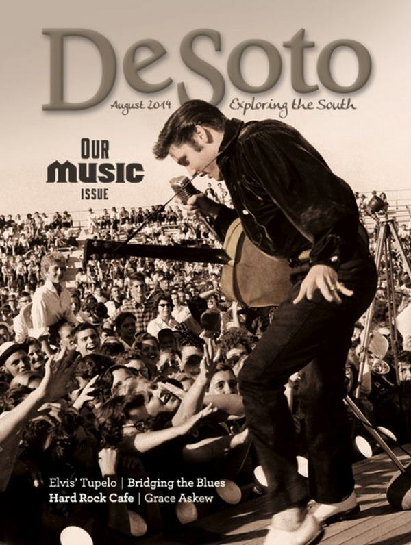 Cover of Desoto Magazine Music Issue 2014 with Elvis