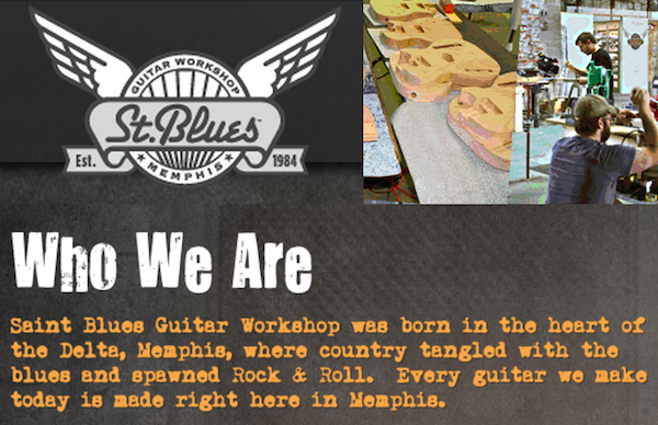St. Blues Guitar Workshop Logo and Who We Are
