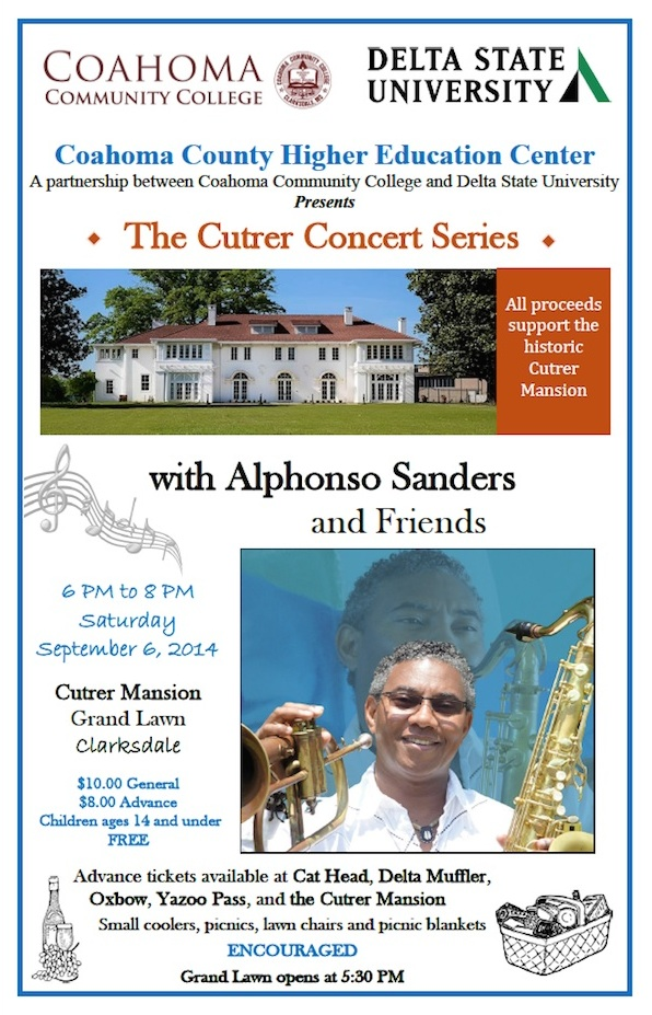 Cutrer Concert Series features Dr. Alphonso Sanders in Clarksdale, Mississippi