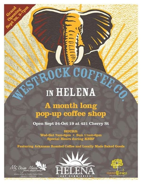 Westrock Coffee in Helena for month long pop-up