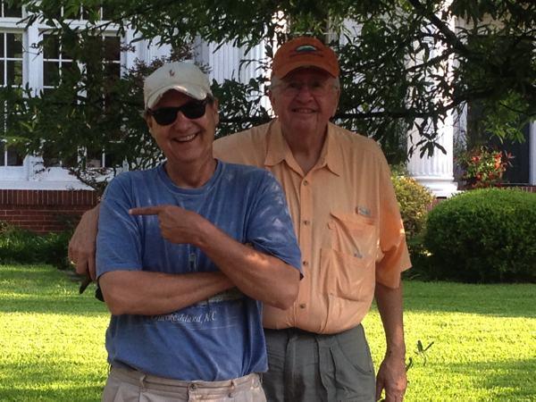Jack Bobo with friend Jack Denton in Clarksdale.