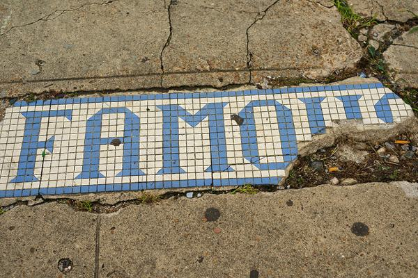 Famous..almost - sidewalk in Shaw, Mississippi PHOTO BY DONALD CHRISTIAN