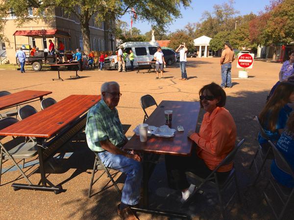 Leonard Patterson and daughter Elizabeth Melton at Sumner Harvest Festival
