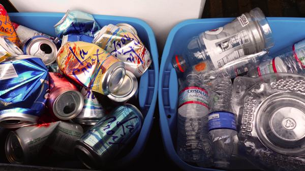 Recyclables in Francine's Truck