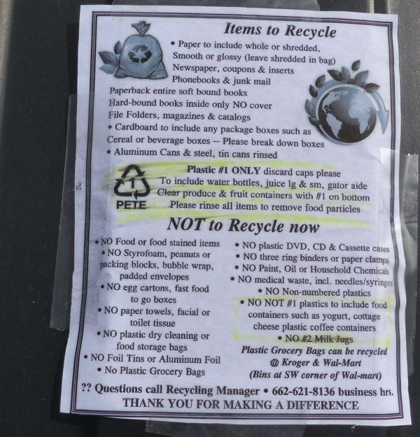HOW TO RECYCLE IN CLARKSDALE