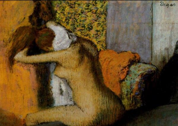Edgar Degas masterpiece 'Apres le Bain' rests at JEU DE PAUME in Paris