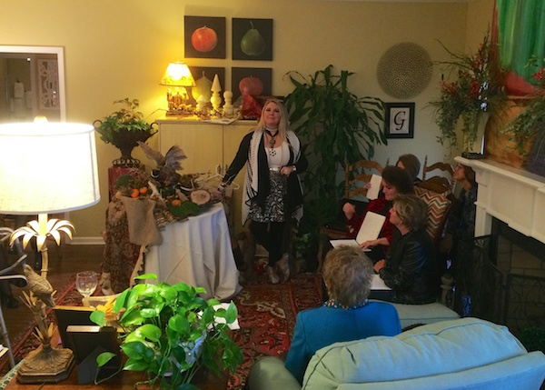 MS Design Maven Marilyn Trainor Storey speaks to Clarksdale Garden Club.