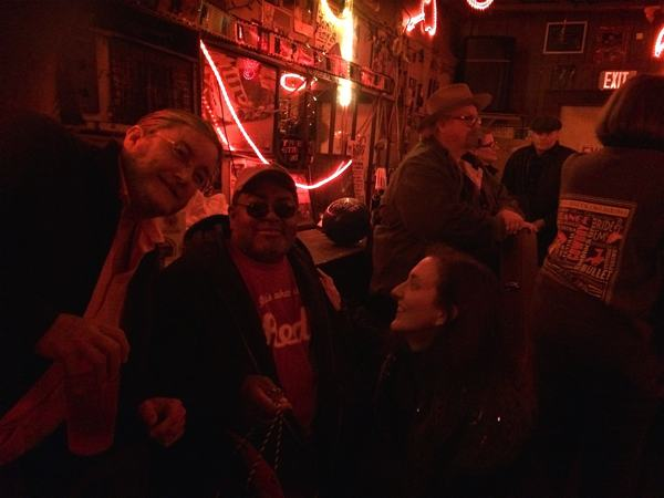Poor William Billy Howell, Red Paden, Magical Madge Marley Howell at Red's club in Clarksdale