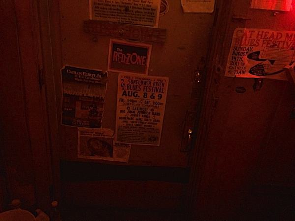 The front door from the inside at Red's Place