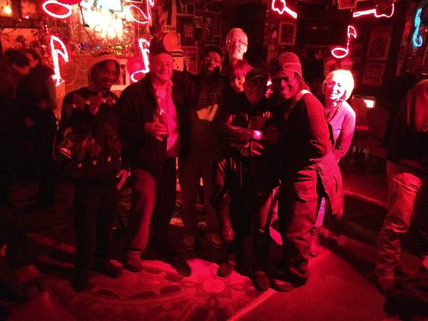 Omar, Poor William, Buford, Dixie, Stan, Mark, Sandy at Red's Blues Club