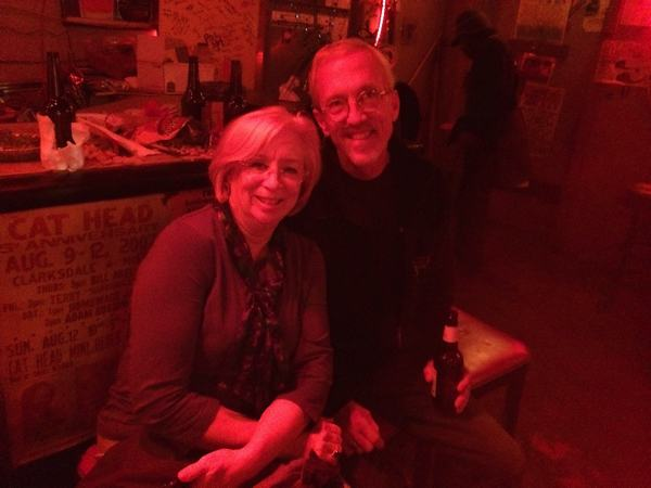 Sandy and Dave Dezcwann at Red's Blues Club