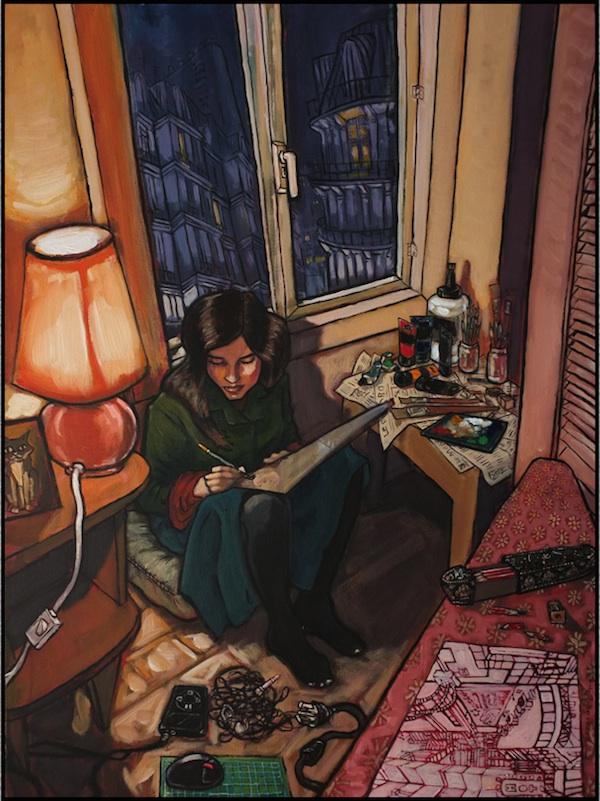 """""""Chez Nous (Portrait of Monique)"""" by ©Eric Henshall 2014"""