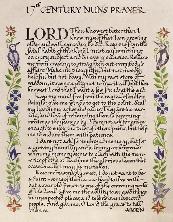 17th Century Nun's Prayer