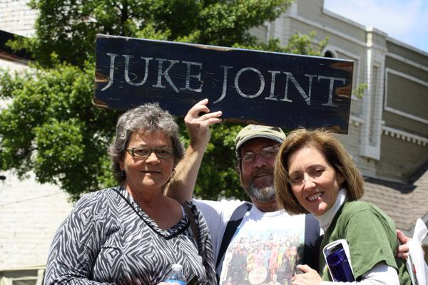 Patsy Hamilton, Rev. Hugh B. Jones, Jr., Magical Madge Marley Howell at Juke Joint Festival