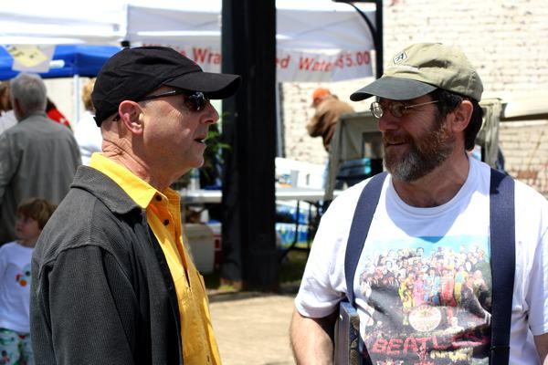 Charles Evans and Rev. Hugh B. Jones, Jr. at Juke Joint Festival in Clarksdale, Mississippi